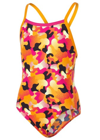 JR - Comet Pop Allover / Thinstrap Crossback - Jaffa/Pink/Lemon