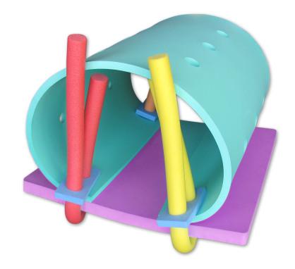 Simmattor för simskolan