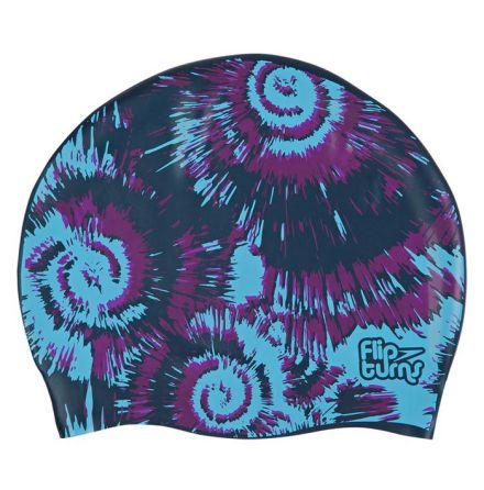 Speedo mönstrad badmössa - blå/svart/lila