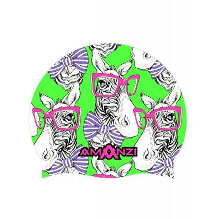 Swim Cap - Zany Zebra