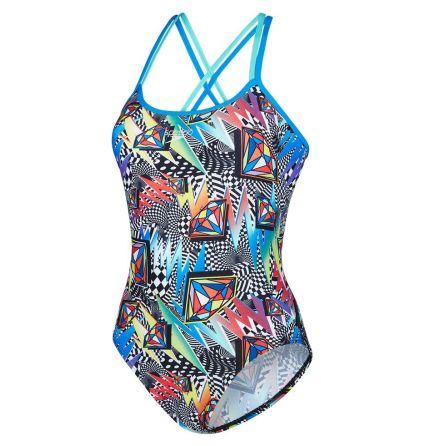 Flipturns Boom Funk Double Crossback Swimsuit